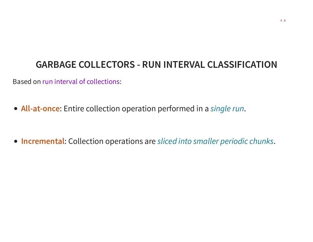 GARBAGE COLLECTORS - RUN INTERVAL CLASSIFICATIO...