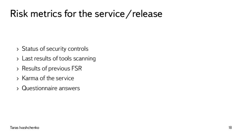 Risk metrics for the service/release › Status o...