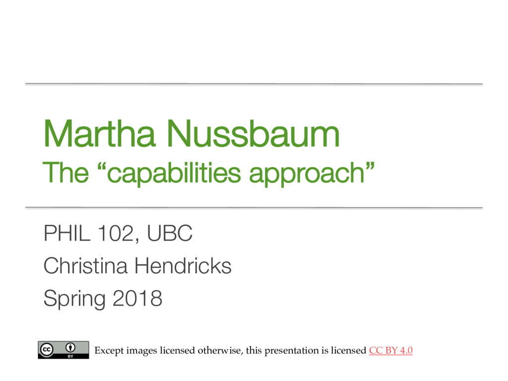 "Martha Nussbaum The ""capabilities approach"" PHI..."