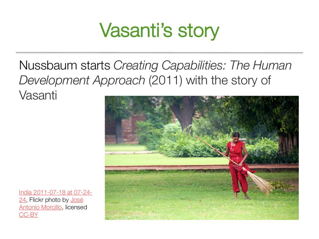 Vasanti's story Nussbaum starts Creating Capabi...