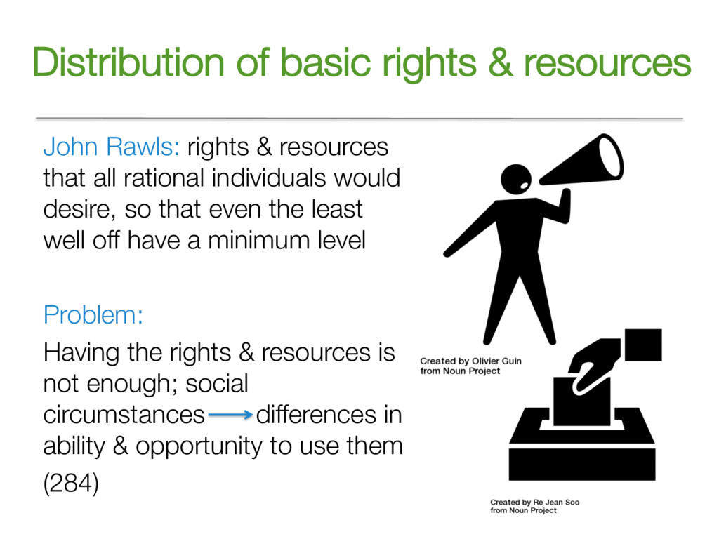 Distribution of basic rights & resources John R...