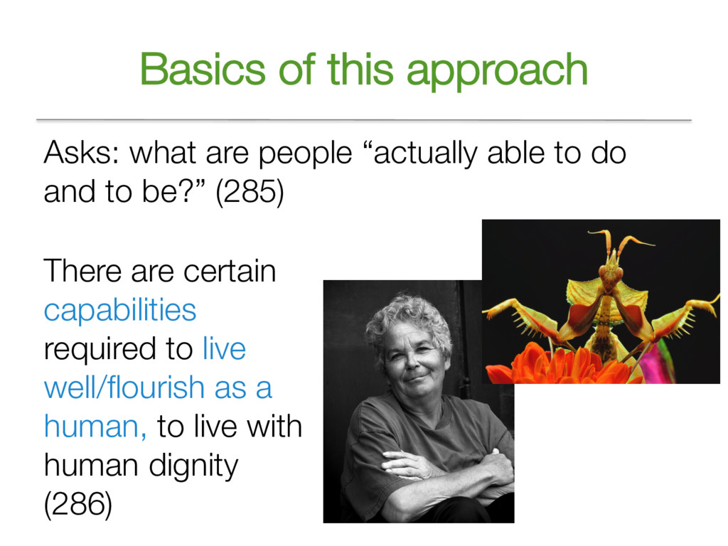 """Basics of this approach Asks: what are people """"..."""