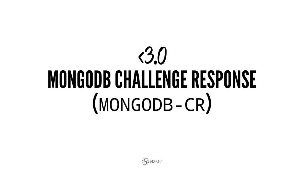 <3.0 MONGODB CHALLENGE RESPONSE (MONGODB-CR)