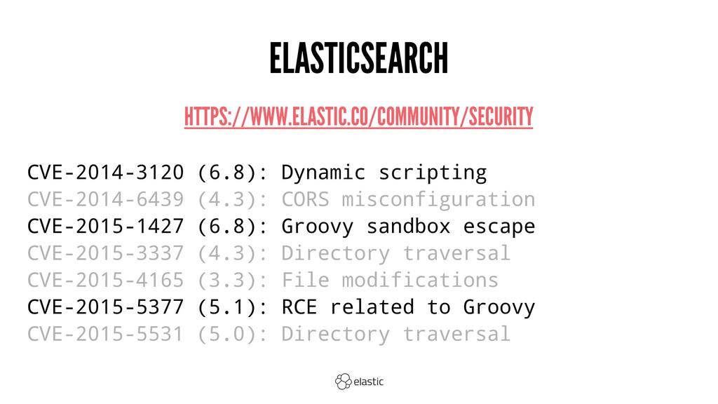 ELASTICSEARCH HTTPS://WWW.ELASTIC.CO/COMMUNITY/...