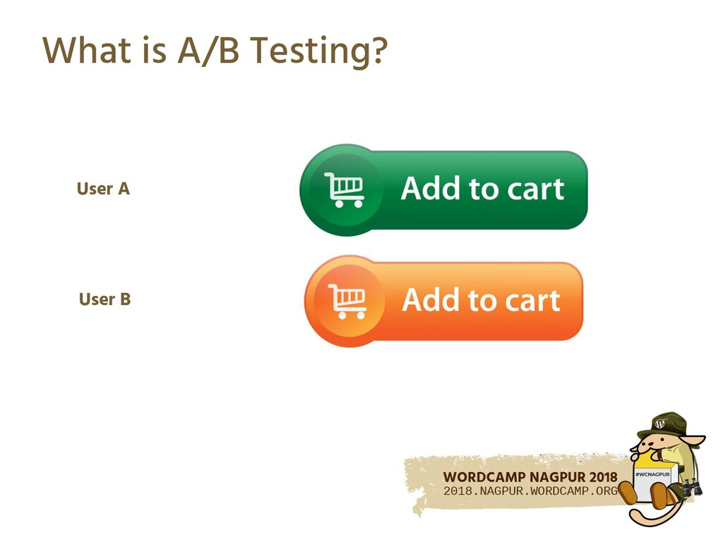 What is A/B Testing? User A User B