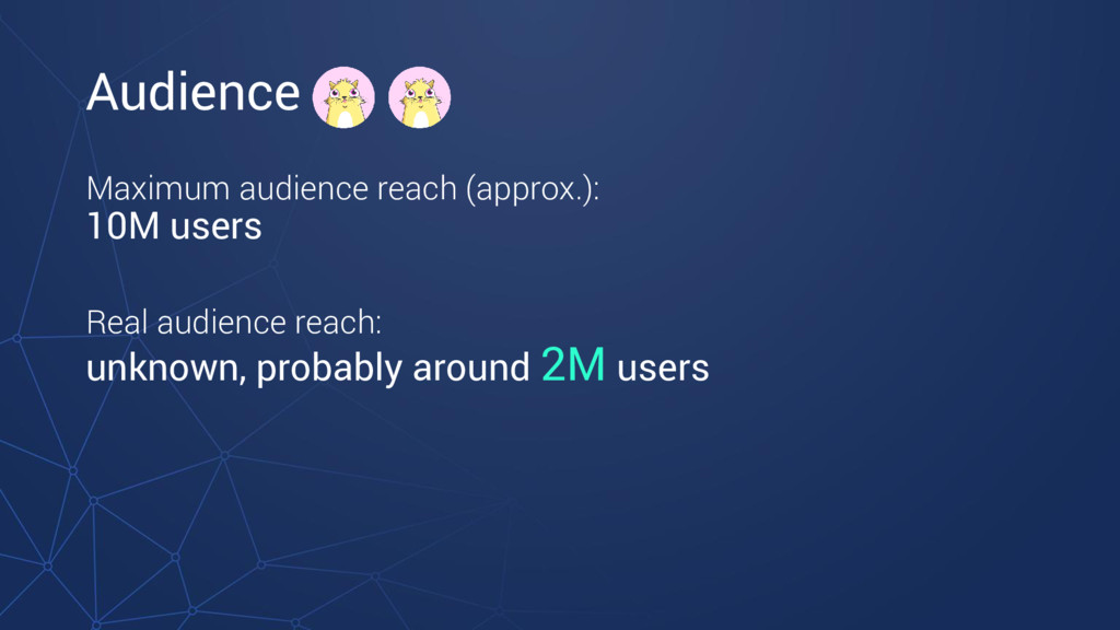 Audience Maximum audience reach (approx.): 10M ...