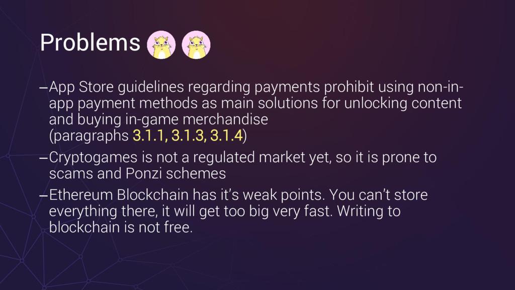 Problems –App Store guidelines regarding paymen...