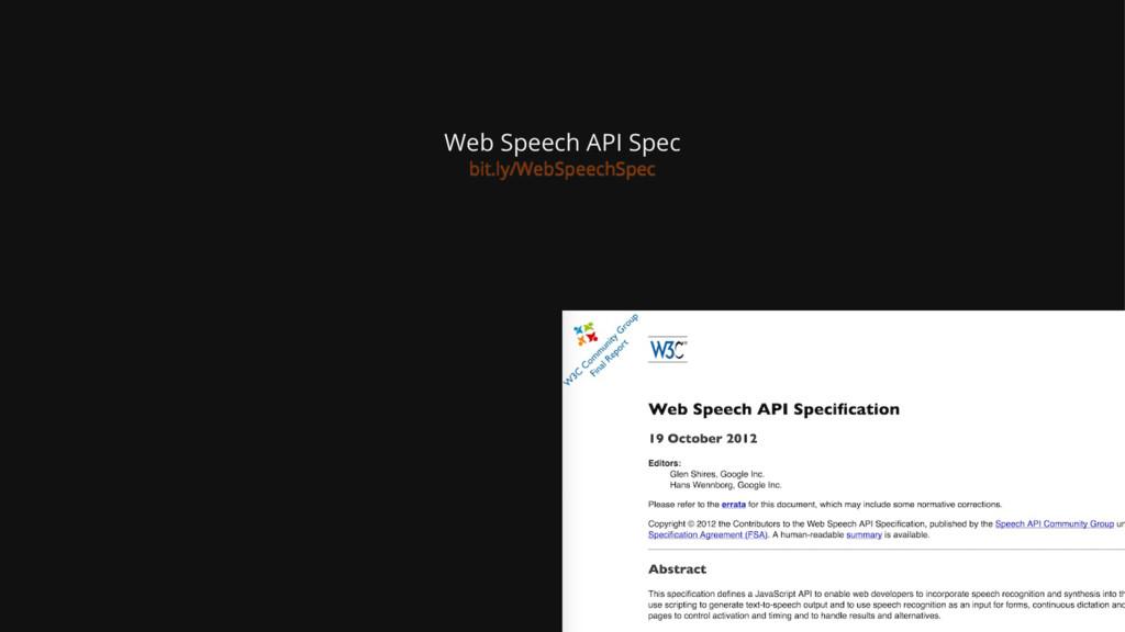Web Speech API Spec