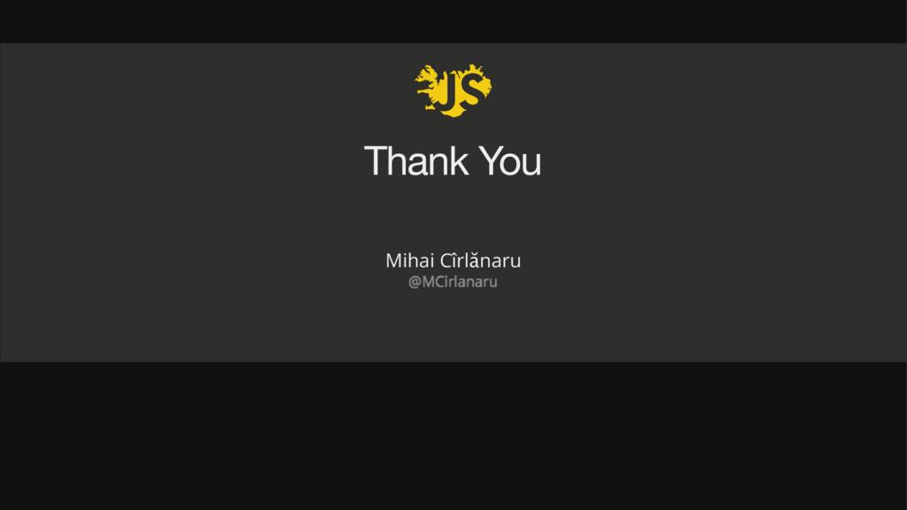 Thank You Mihai Cîrlănaru