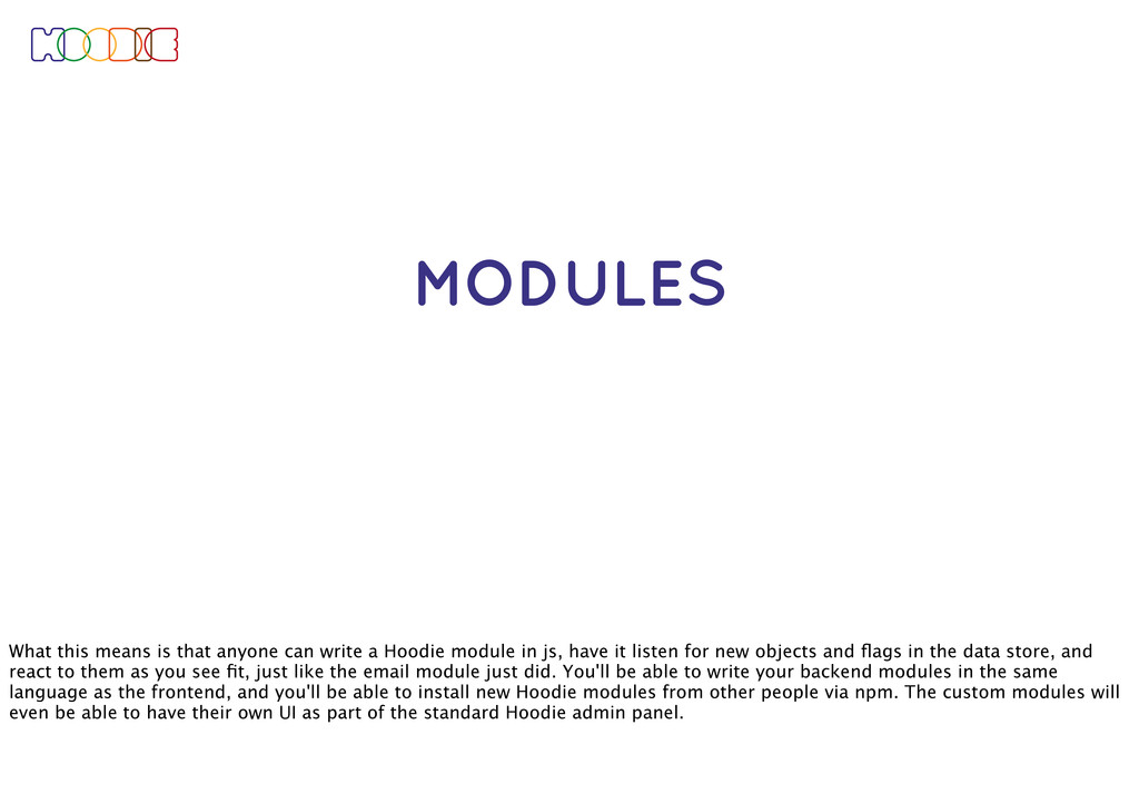 MODULES What this means is that anyone can writ...