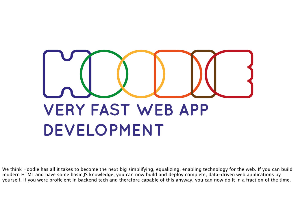 VERY FAST WEB APP DEVELOPMENT We think Hoodie h...