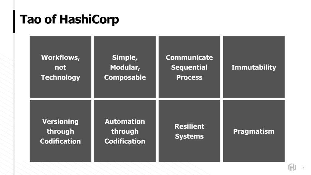 Tao of HashiCorp 5 Workflows, not Technology Si...