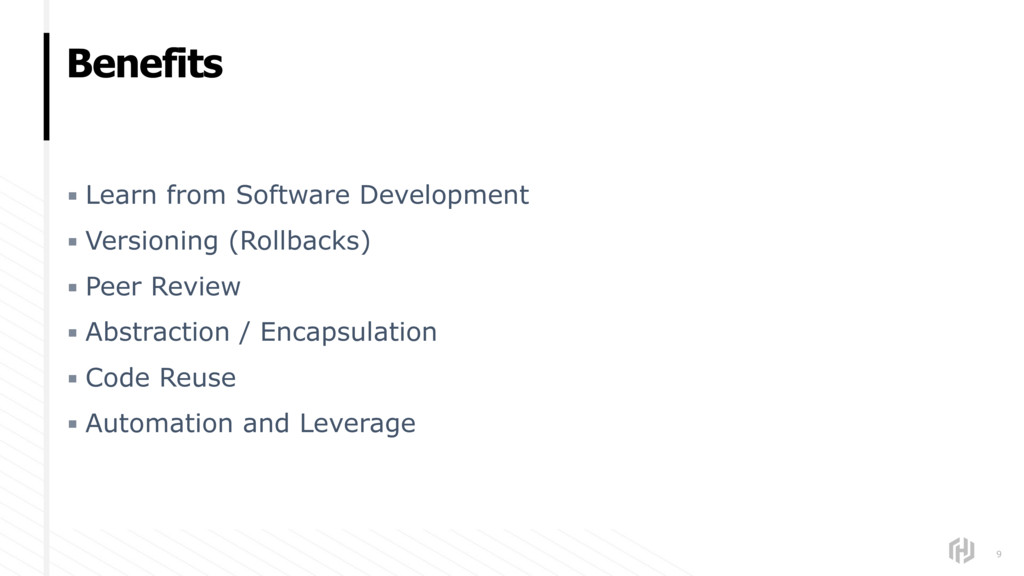 Benefits ▪ Learn from Software Development ▪ Ve...