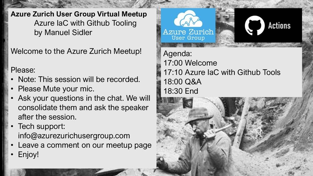 Azure Zurich User Group Virtual Meetup Azure Ia...