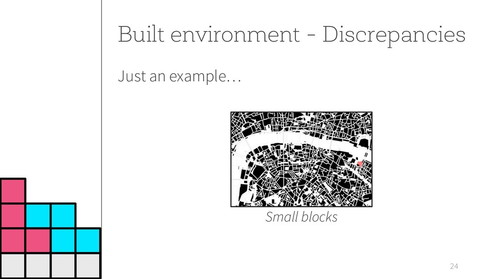 24 Built environment - Discrepancies Small bloc...