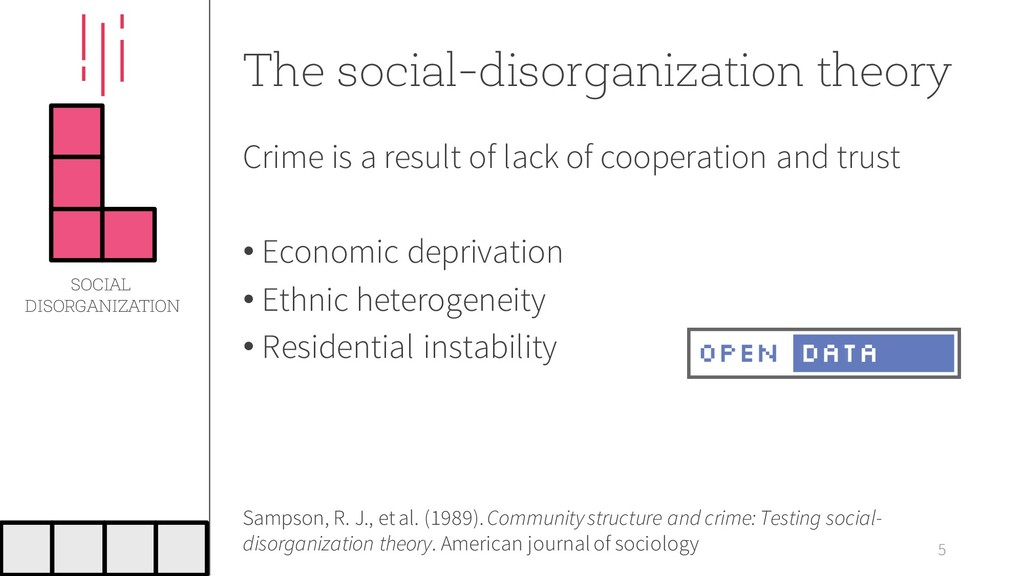 The social-disorganization theory Crime is a re...