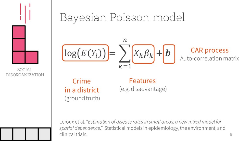 "Bayesian Poisson model 6 Leroux et al. ""Estimat..."