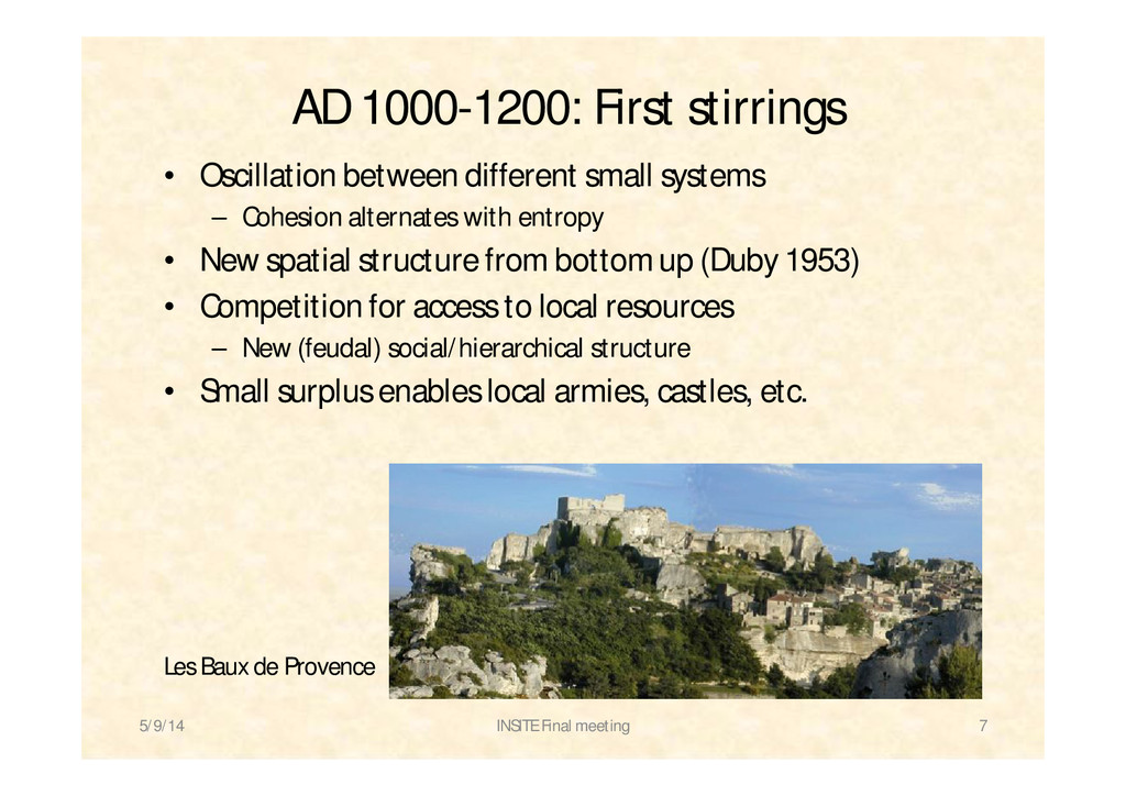 AD 1000-1200: First stirrings • Oscillation bet...