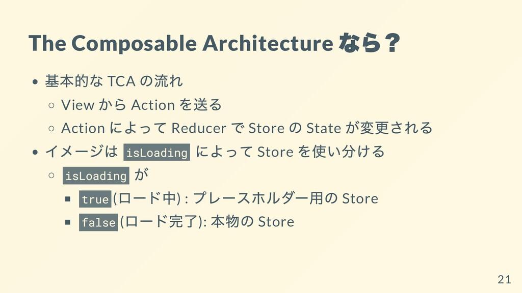 The Composable Architecture なら? 基本的な TCA の流れ Vi...