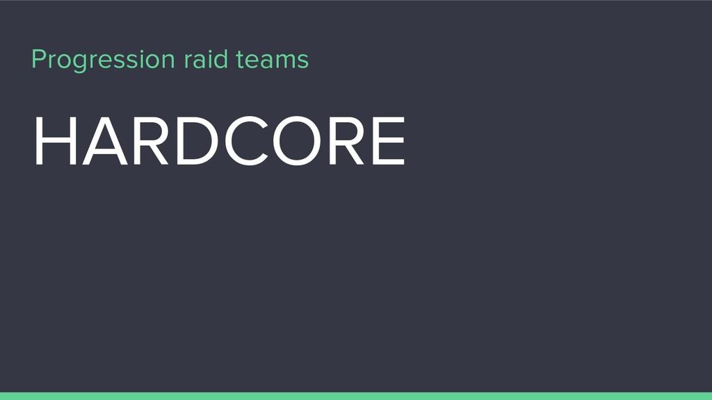 Progression raid teams HARDCORE