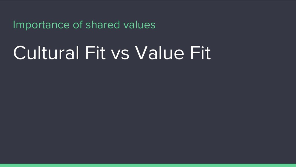 Importance of shared values Cultural Fit vs Val...