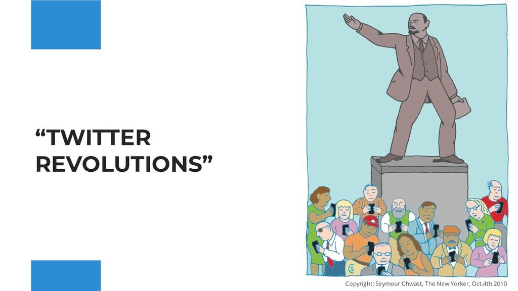 """TWITTER REVOLUTIONS"" Copyright: Seymour Chwast..."