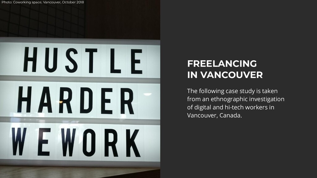 Photo: Coworking space, Vancouver, October 2018...