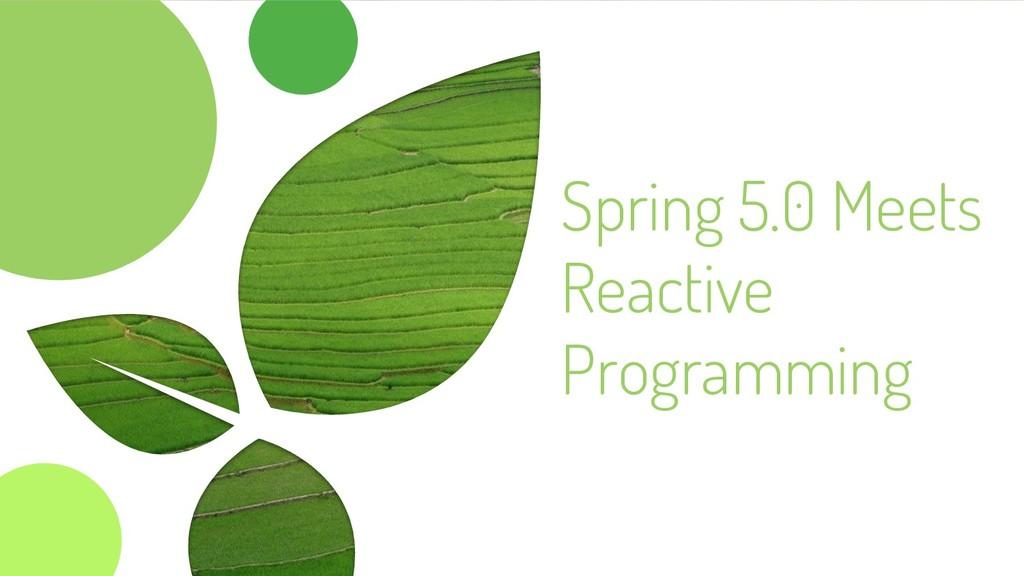 Spring 5.0 Meets Reactive Programming