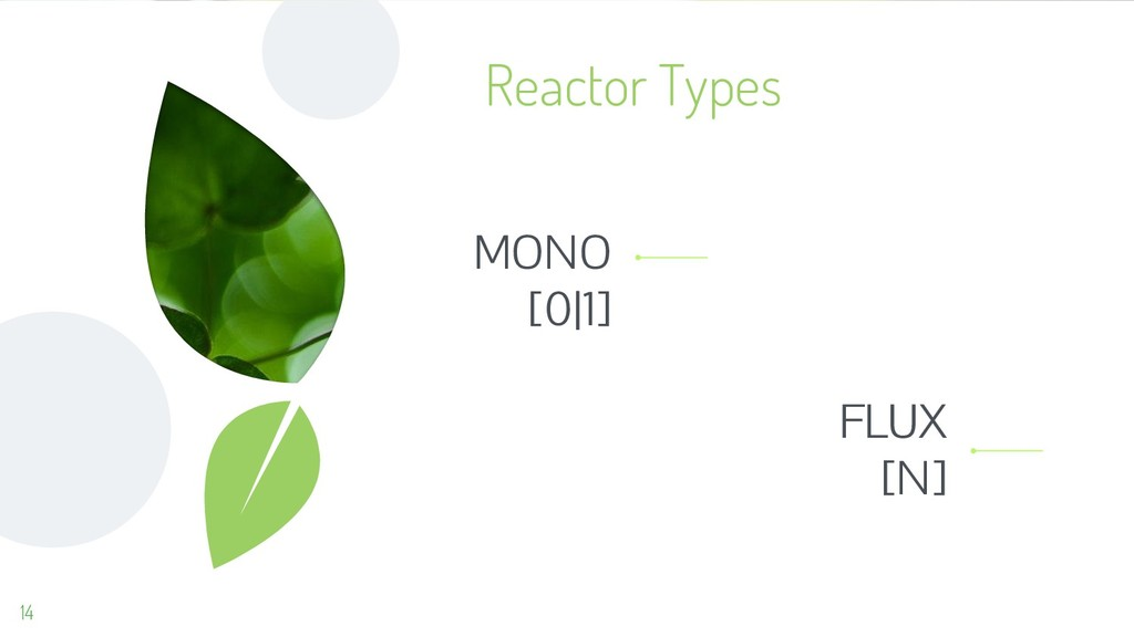 14 Reactor Types MONO [0 1] FLUX [N]