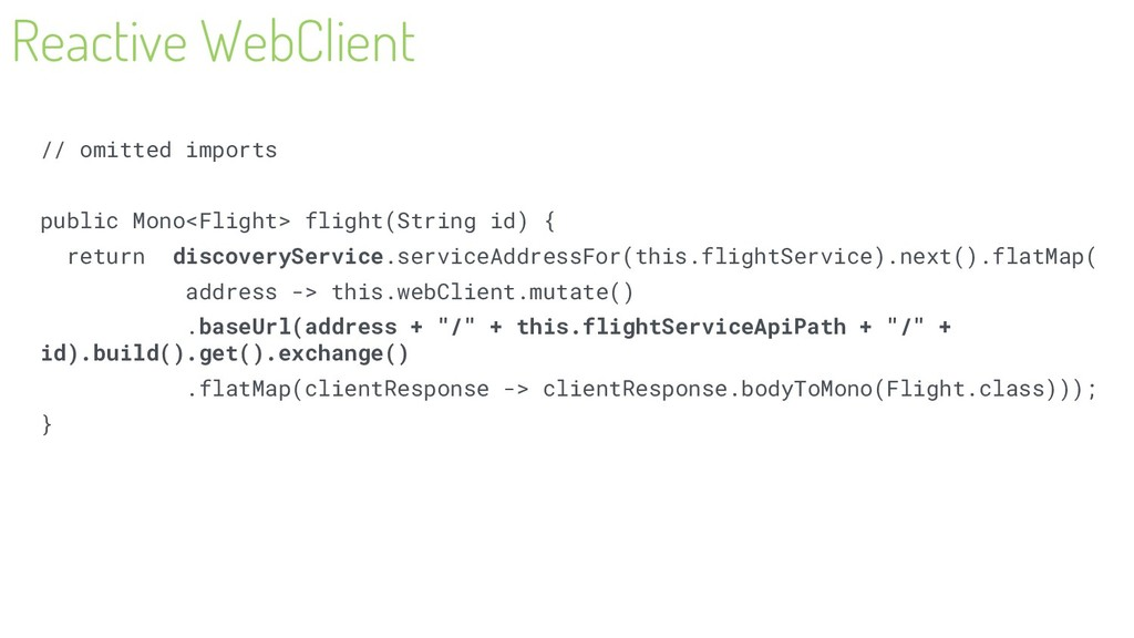 Reactive WebClient // omitted imports public Mo...