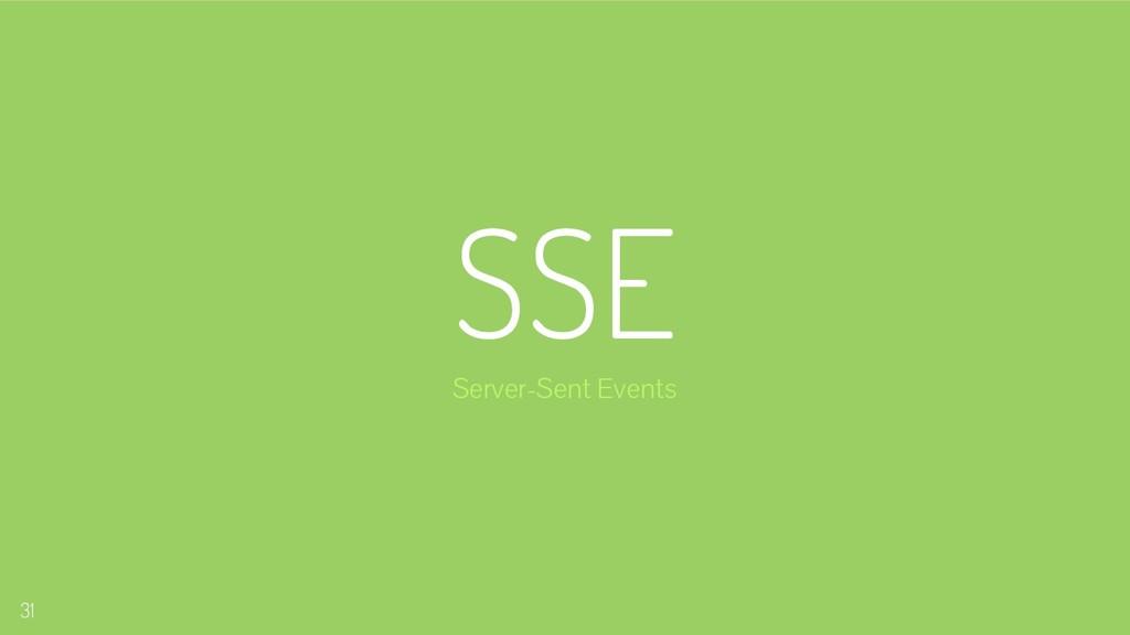 SSE Server-Sent Events 31