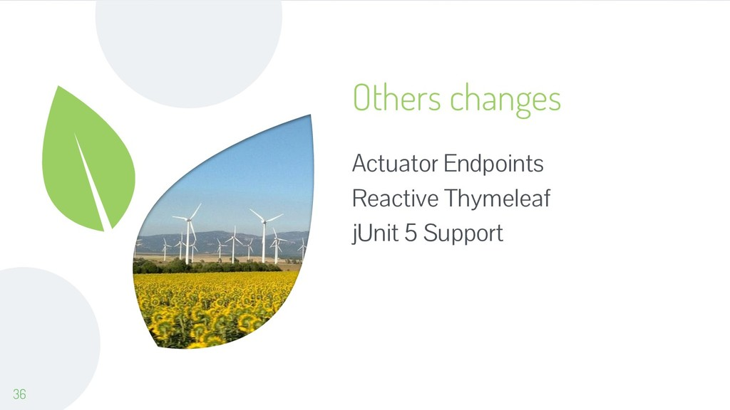 Others changes Actuator Endpoints Reactive Thym...