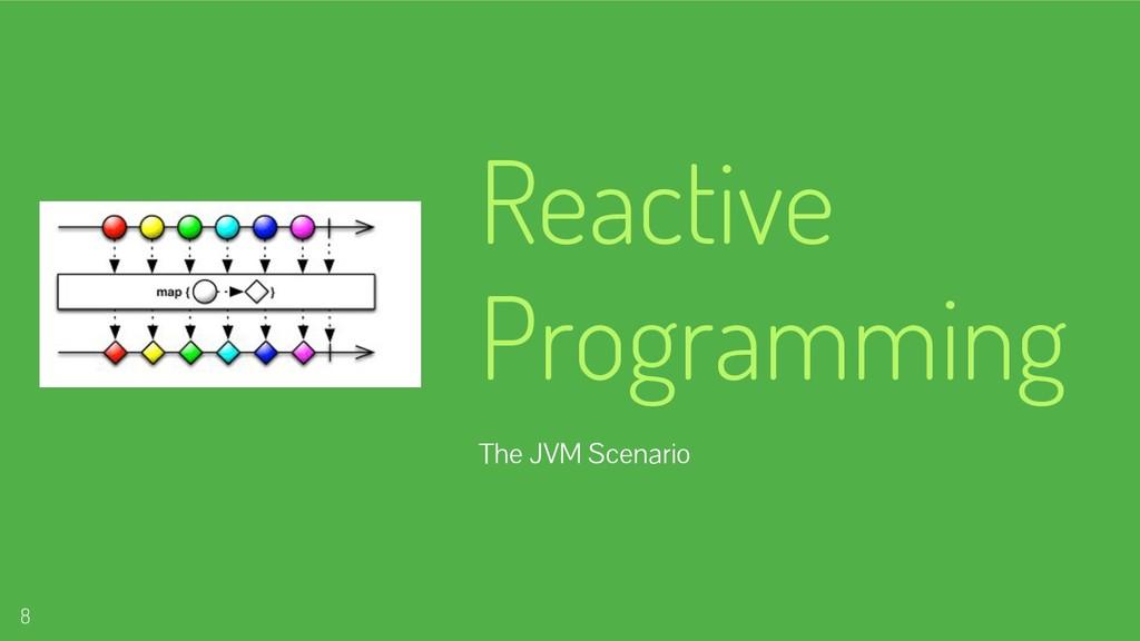 Reactive Programming The JVM Scenario 8