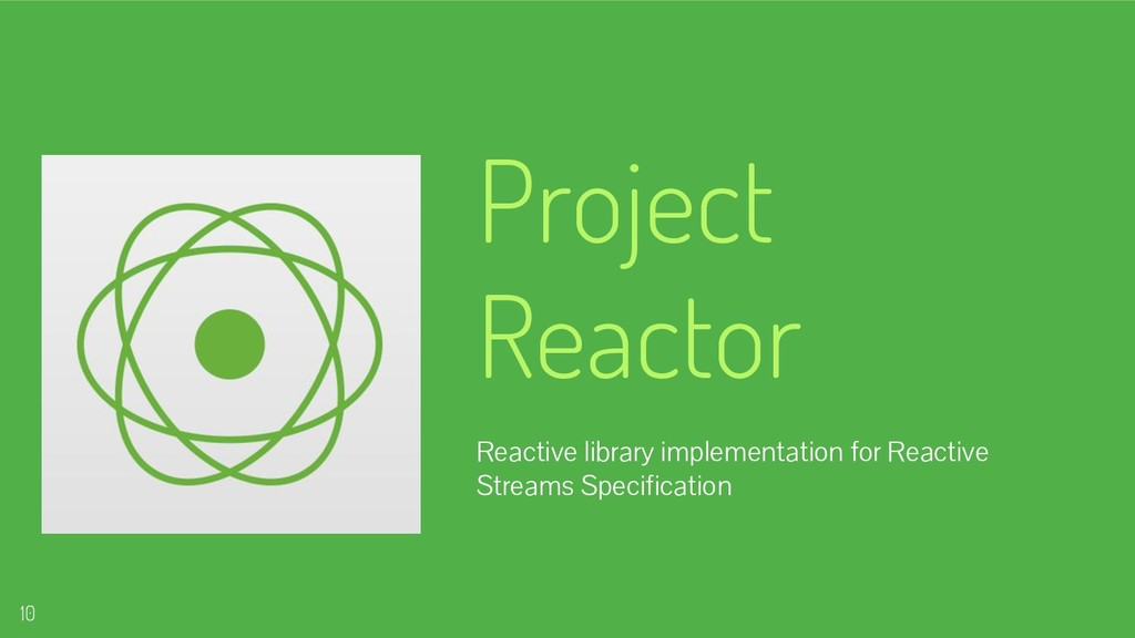 Project Reactor Reactive library implementation...