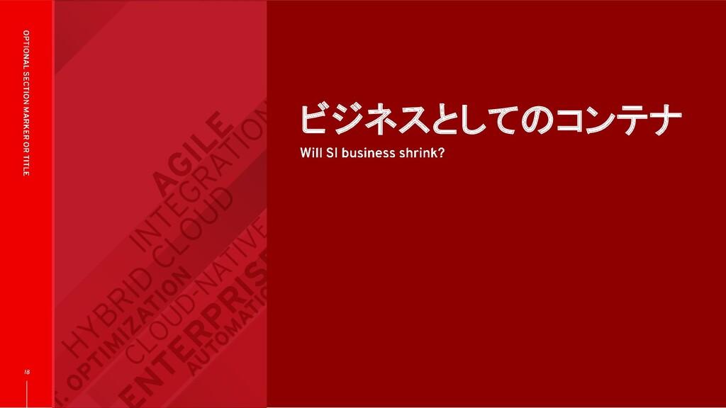 ビジネスとしてのコンテナ