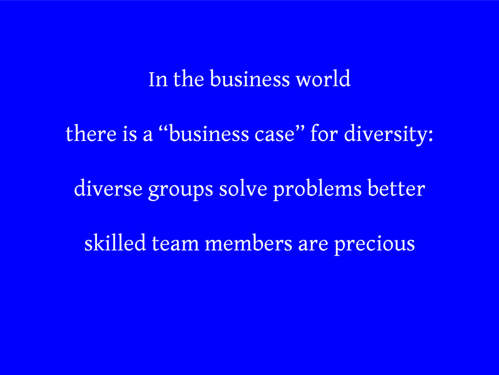 """In the business world there is a """"business case..."""