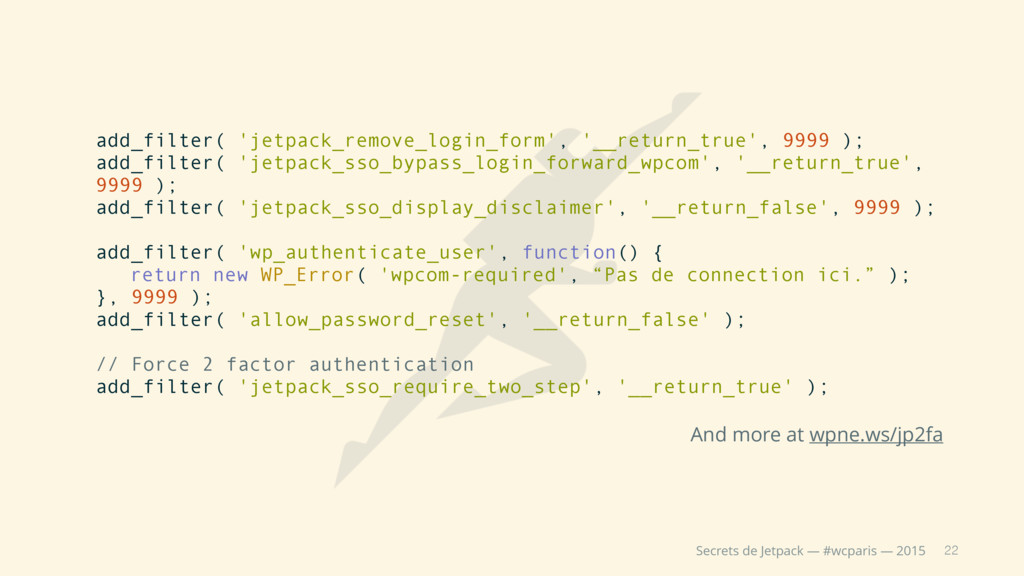 22 Secrets de Jetpack — #wcparis — 2015 add_fil...