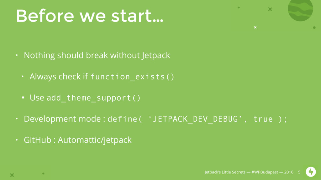 Jetpack's Little Secrets — #WPBudapest — 2016 B...
