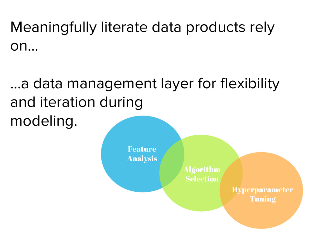Meaningfully literate data products rely on… .....