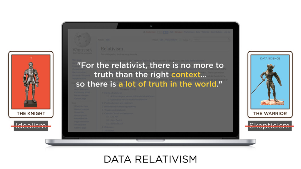 THE WARRIOR DATA SCIENCE Idealism Skepticism DA...