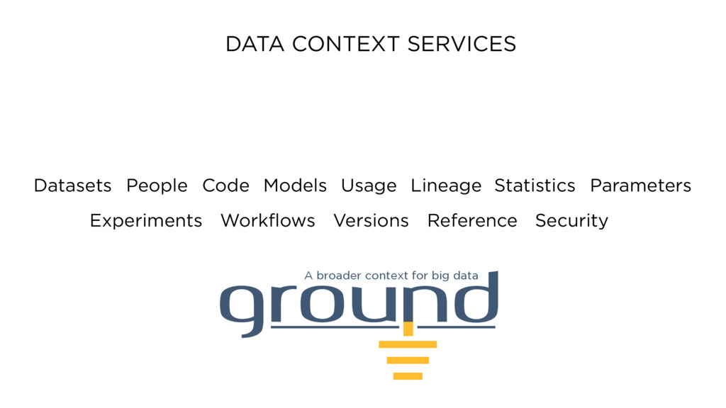 ground A broader context for big data Datasets ...