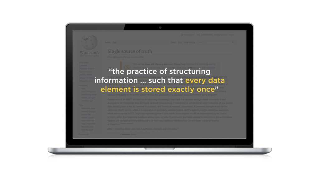 """the practice of structuring information … such..."