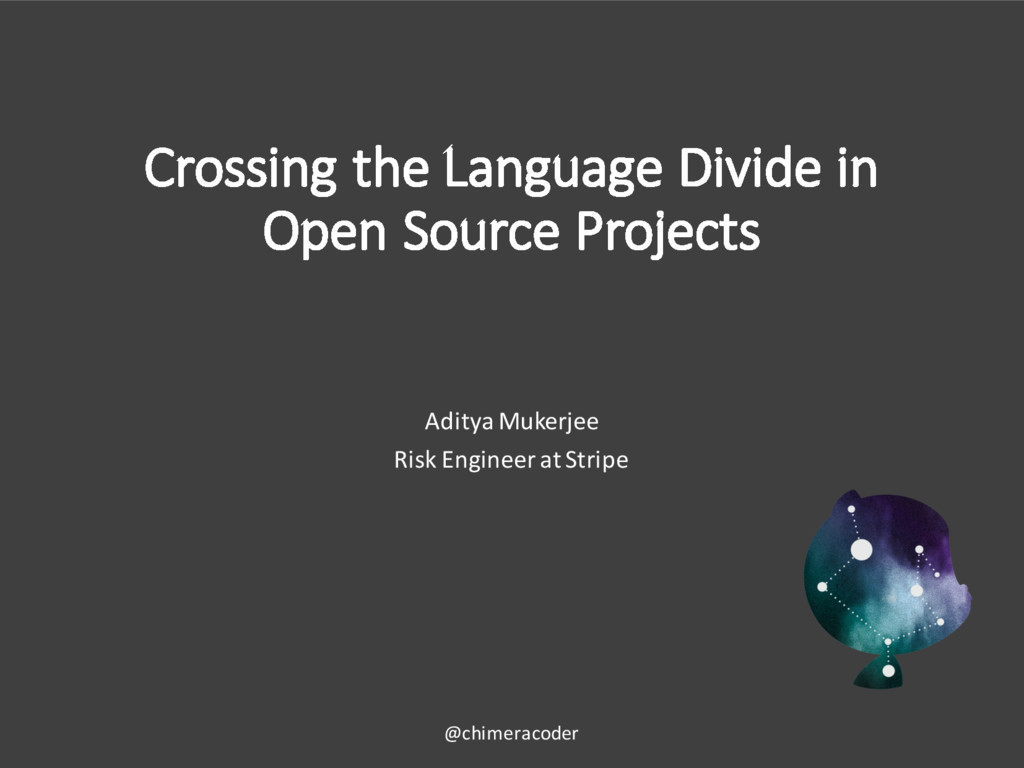 Crossing the Language Divide in Open Source Pro...
