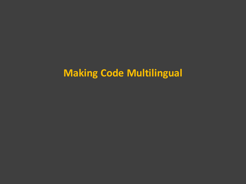 Making Code Multilingual