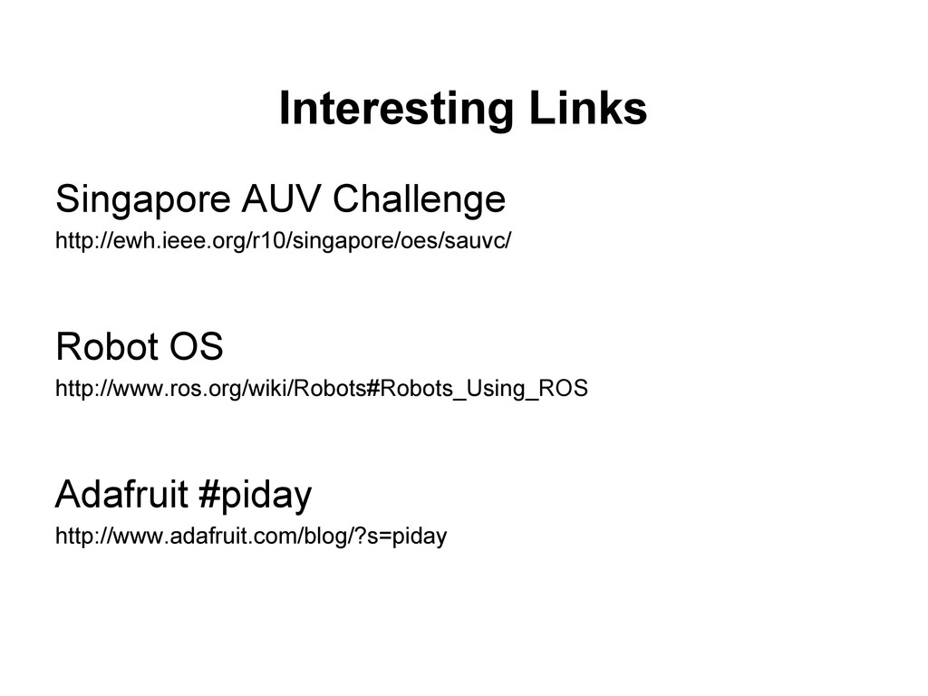 Interesting Links Singapore AUV Challenge http:...