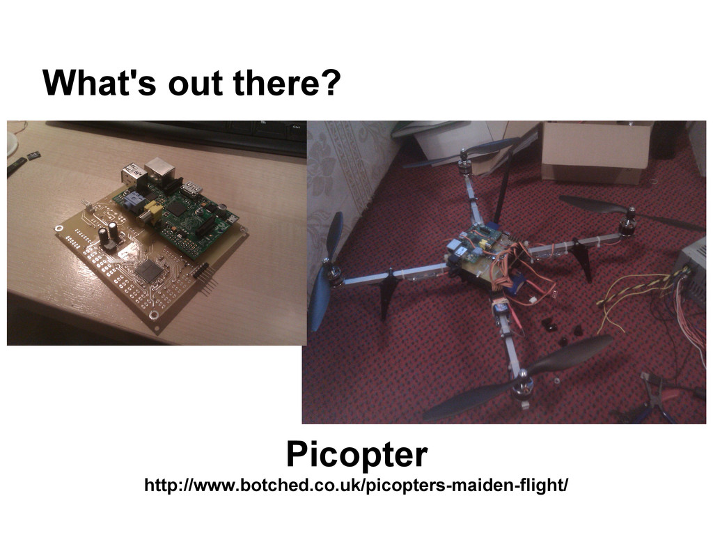 What's out there? Picopter http://www.botched.c...