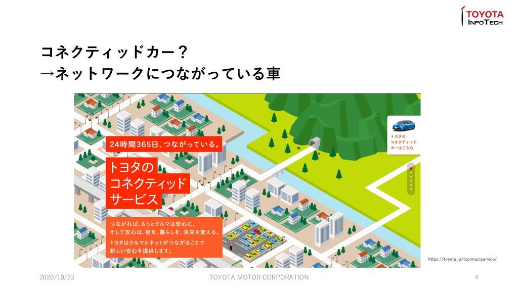 https://toyota.jp/tconnectservice/ コネクティッドカー? →...