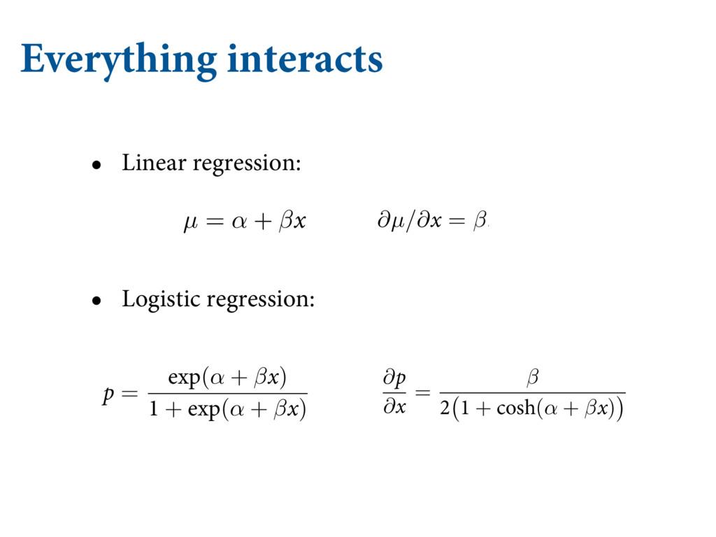 • Linear regression: • Logistic regression: Eve...