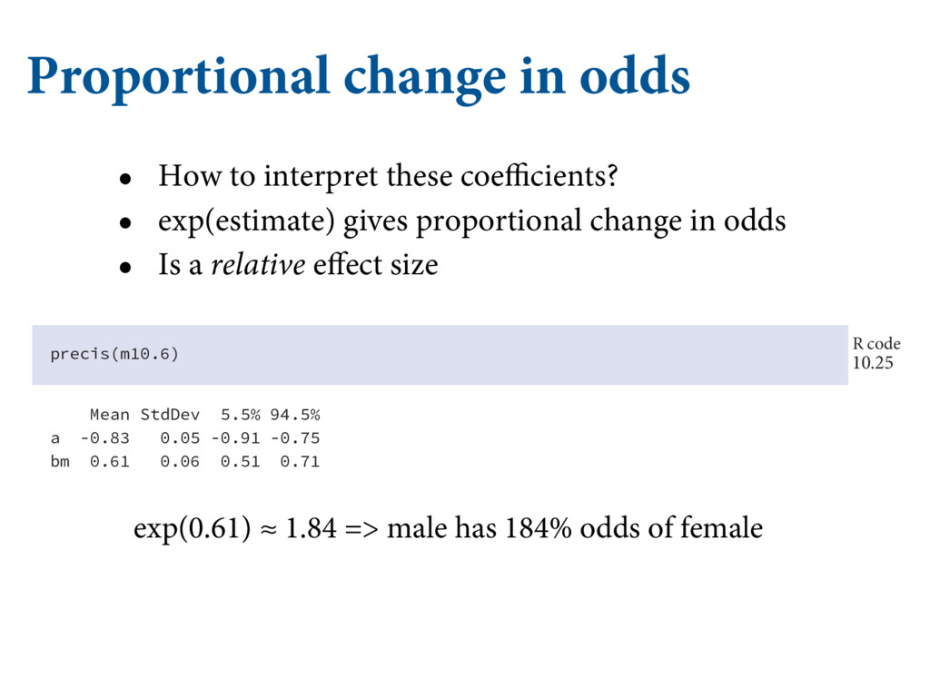 Proportional change in odds • How to interpret ...