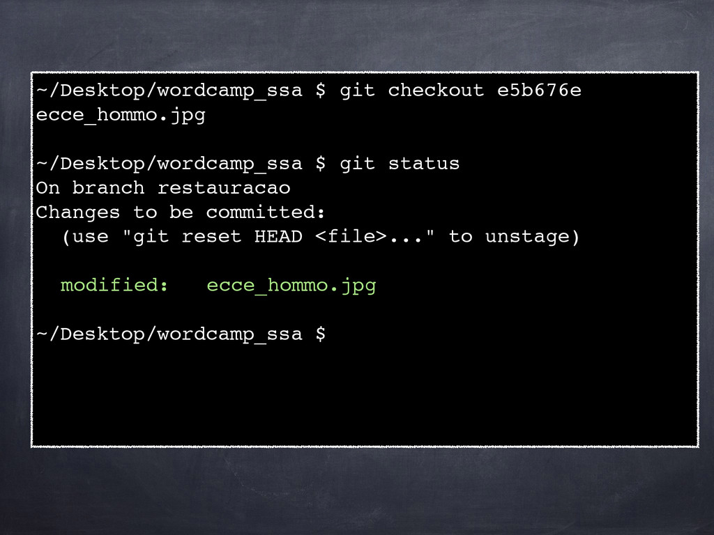 ~/Desktop/wordcamp_ssa $ git checkout e5b676e e...